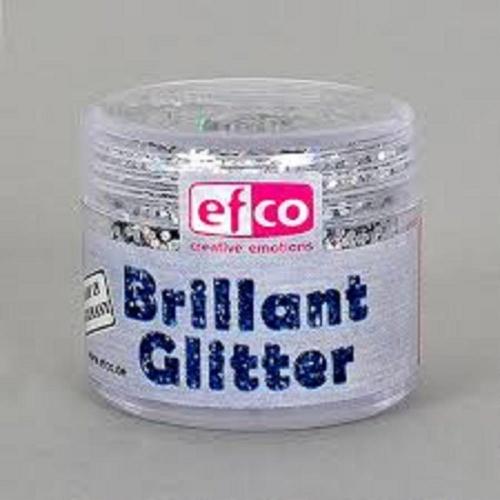 Χρυσόσκονη glitter brillant Efco 9 gr ασημί