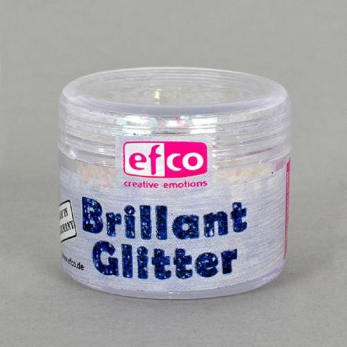 Χρυσόσκονη glitter brillant Efco 9 gr λευκό-ροζ