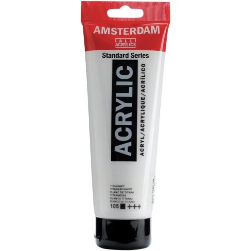 Ακρυλικό Amsterdam 250 ml λευκό 105 titanium white