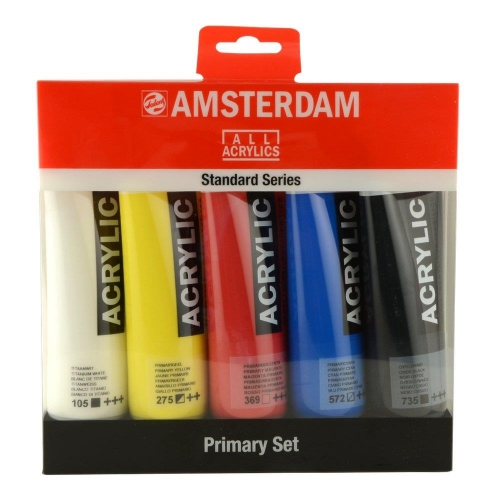 Σετ ακρυλικών Talens Amsterdam 5x120 ml primary