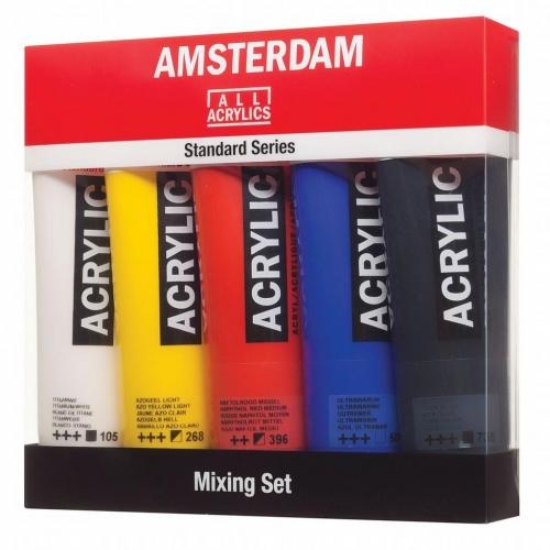 Σετ ακρυλικών Talens Amsterdam 5x120 ml mixing