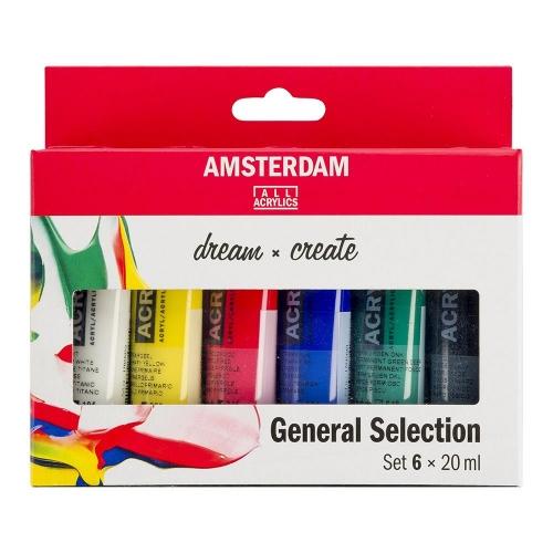 Σετ ακρυλικών Talens Amsterdam 6x20 ml