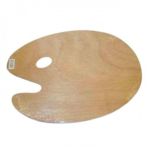 Παλέτα ξύλινη οβάλ 20x30 cm
