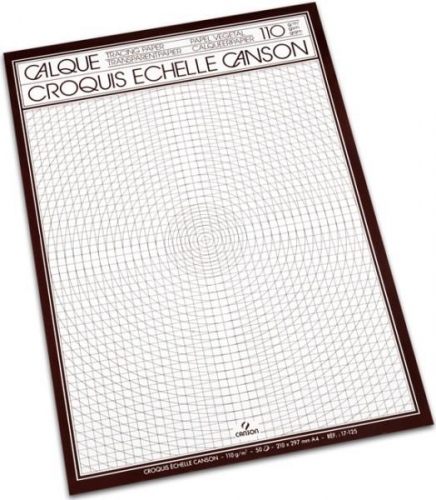 Μπλοκ Α4 διαφανές Canson 50φ 110 gr