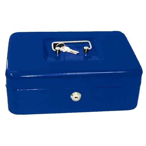 Χρηματοκιβώτιο φορητό ταμείο 25x18x9 cm μπλε