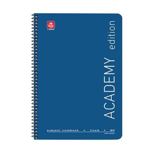 Τετράδιο σπιράλ 17x25 Academy 4 θεμάτων μπλε