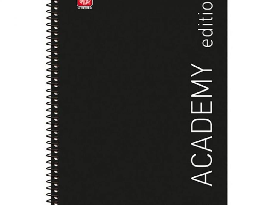 Τετράδιο σπιράλ Α4 Academy 5 θεμάτων μαύρο