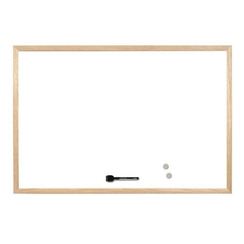 Πίνακας λευκός 60x90 cm μαγνητικός ξύλινος