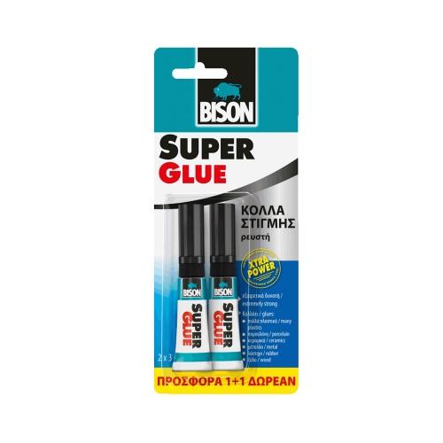 Κόλλα στιγμής Bison glue 2x3 gr