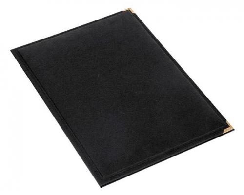Σουμέν δίφυλλο 34x47 με γαζί & γωνίες μαύρο