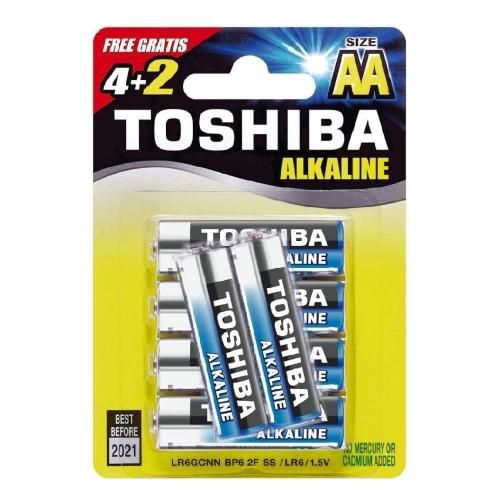 Μπαταρίες AA Toshiba 4+2 δώρο