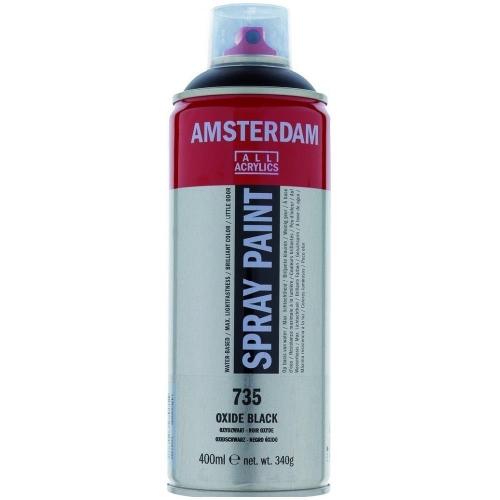 Σπρέι ακρυλικό Amsterdam 400ml 735 oxide black