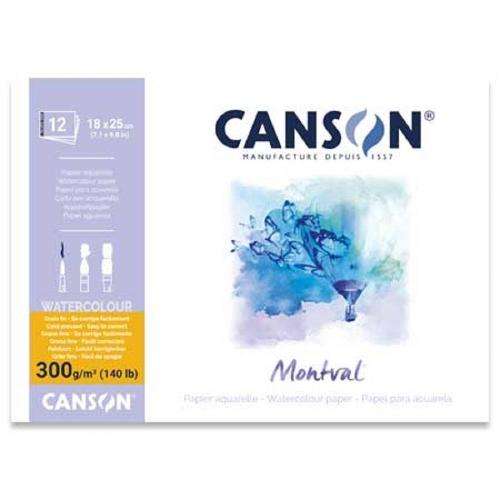 Μπλοκ Canson montval 300 gr 18x25cm 12φ κολλητό