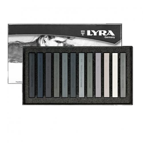 Παστέλ Lyra 12 τεμ γκρι τόνοι 5641122
