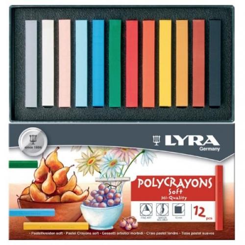 Παστέλ Lyra 12 τεμ. πολύχρωμα 5651120