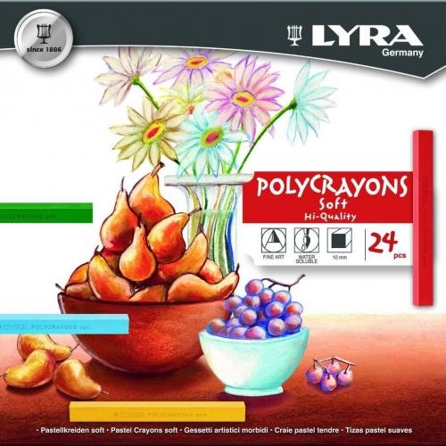 Παστέλ Lyra 24 τεμ. πολύχρωμα 5651240