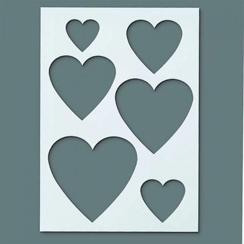 Στένσιλ Efco Α5 hearts