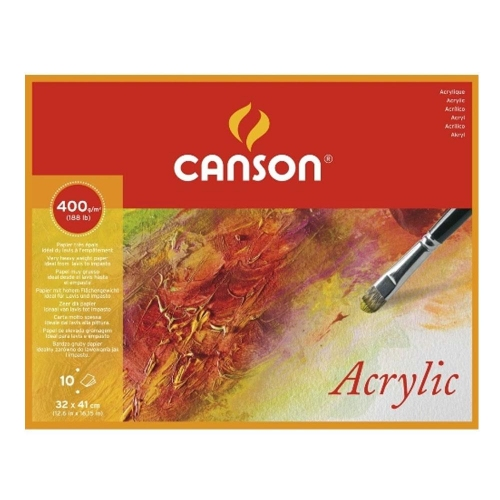 Μπλοκ Canson 32x41 cm 10 φύλλα 400 gr acrylic Cold Pressed