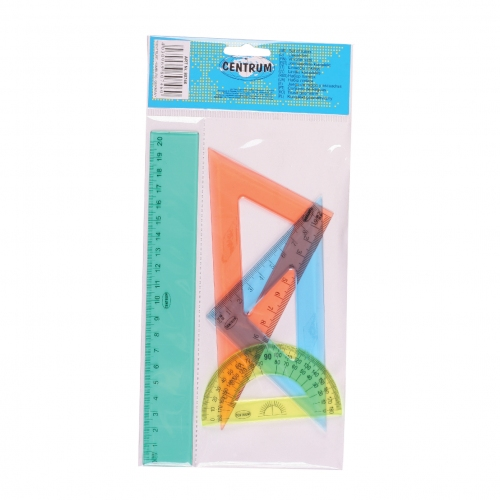Σετ γεωμετρίας Centrum 20 cm 4 τεμ