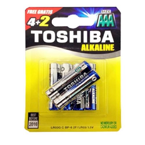 Μπαταρίες AAA Toshiba 4+2 δώρο