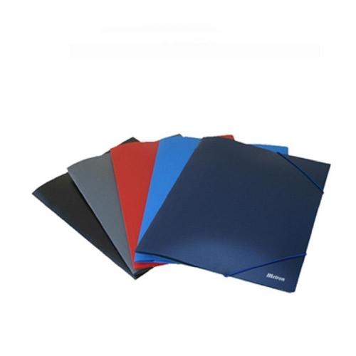 Ντοσιέ λάστιχο πλαστικό Metron mat μαύρο