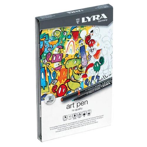 Μαρκαδόροι Lyra art pen σετ 10 τεμ. μεταλλική κασετίνα
