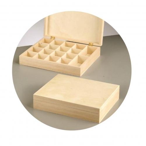Κουτί ξύλινο Efco 25x20x5,5 cm θήκες