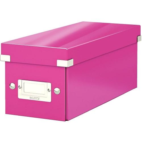 Κουτί αποθήκευσης CD Leitz 6041 ροζ