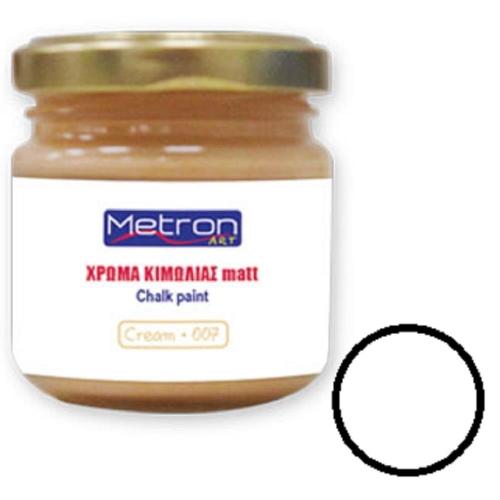 Χρώμα κιμωλίας Metron 110 ml snow white