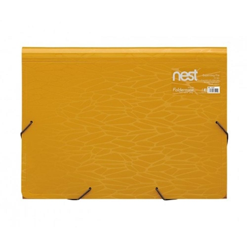 Γραμματιοθήκη Α4 Nest Foldermate 13θ κίτρινη