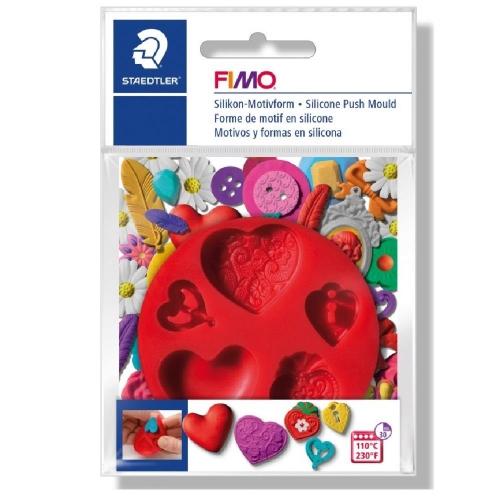 Καλούπι σιλικόνης πηλού Fimo 872523 hearts
