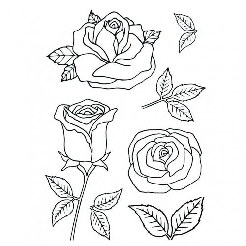 Στάμπες σφραγίδας Α7 roses 24