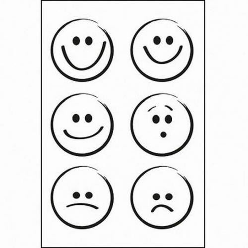 Στάμπες σφραγίδας Α7 smileys 48