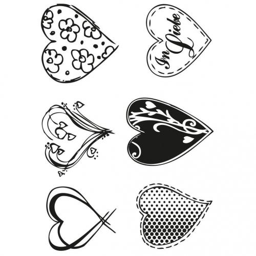 Στάμπες σφραγίδας Α7 hearts 49