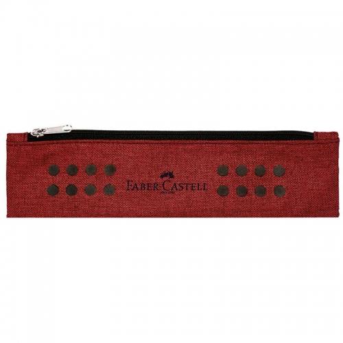 Κασετίνα με ιμάντα Faber grip red 573122