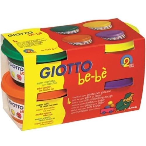 Πλαστοζυμαράκια giotto Bebe 4x100gr 464903