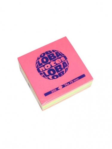 Χαρτάκια Global 75x75 320Φ νέον