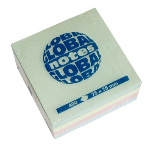 Χαρτάκια Global 75x75 400Φ παστέλ