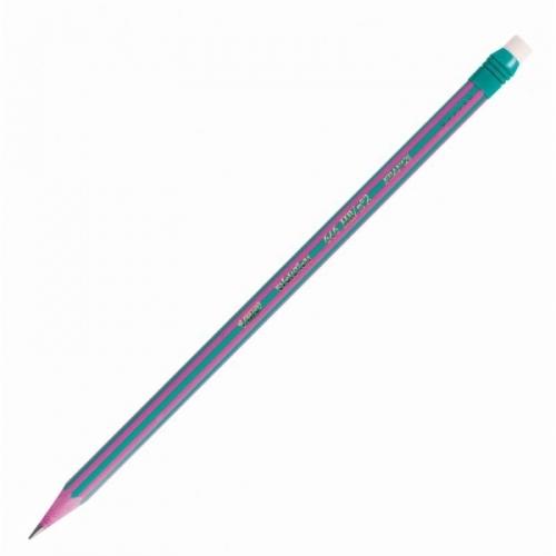 Μολύβι bic evolution stripes με γόμα