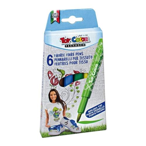 Μαρκαδόροι Toy Color Textile 6 τεμ