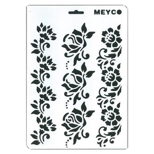 Στένσιλ Meyco Α4 τριαντάφυλλα
