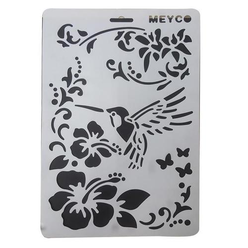 Στένσιλ Meyco Α4 άνθη-πουλί