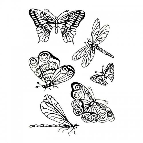 Στάμπες σφραγίδας Α7 butterflies 42