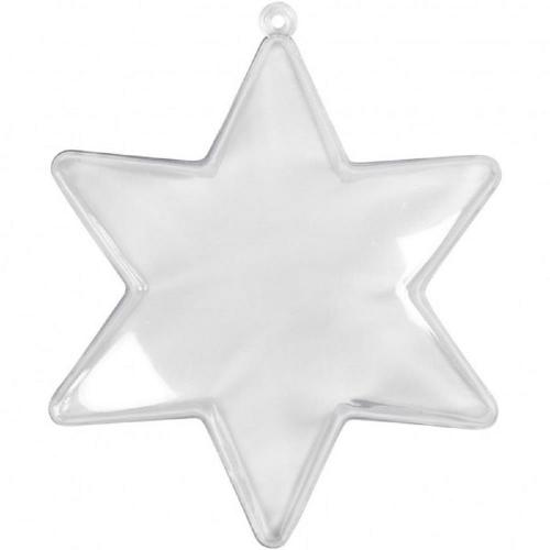Αστέρι πλαστικό διάφανο 10 cm