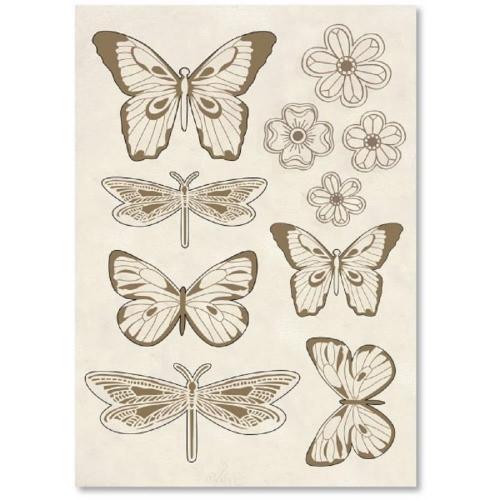 Ξύλινα διακοσμητικά σε Α5 πεταλούδες