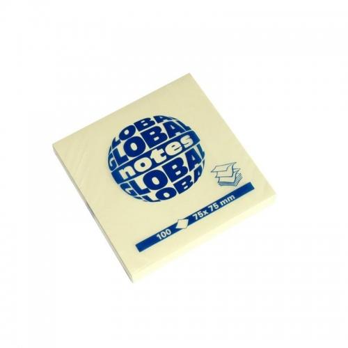 Χαρτάκια Global 75x75 100Φ κίτρινα