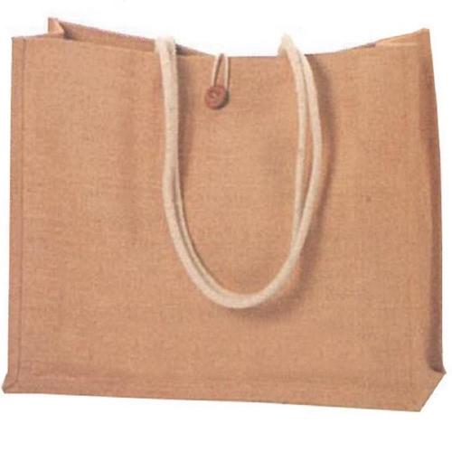 Τσάντα πάνινη λινάτσα με κουμπί