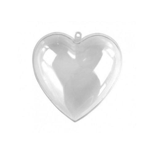 Καρδιά πλαστική διάφανη 8 cm