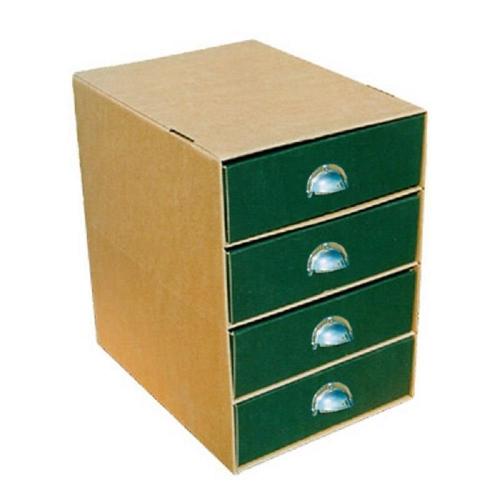 Συρταριέρα χάρτινη 4 θέσεων πράσινη