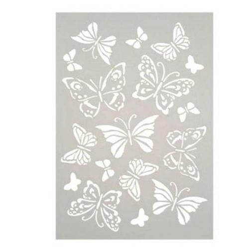 Στένσιλ Efco Α4 butterflies background